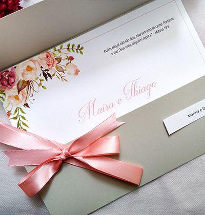 Convite Rosa e Cinza