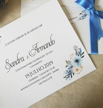 Convite de Delicado Azul