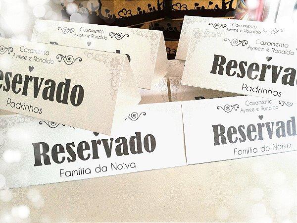 Placa reservado mesa