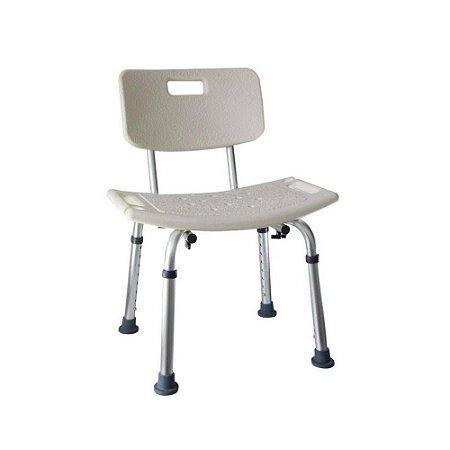 Cadeira retangular com encosto de banho D2 - Dellamed