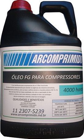 Óleo FG Food Grade para Compressor Rotativo de Parafuso Balde 5 Litros