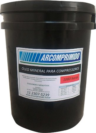 Óleo Mineral 1000 Hrs Compressor de Pistão Dresser  20l