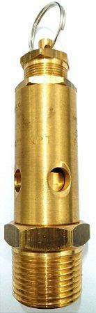 """Válvula de Segurança Alívio 3/4"""" Aferida e Certificada 175libras 12,3kg"""