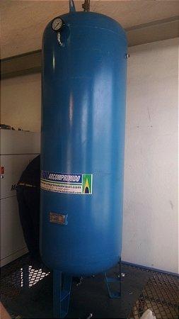 Reservatório Vertical Ar Comprimido 1000L Aço Carbono Pressão Máxima de Trabalho 10,5 kgf/cm2 com Acessórios