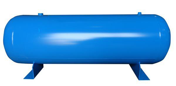 Reservatório Horizontal para Ar Comprimido 200L em Aço Carbono Pressão de Trabalho 12,3kg