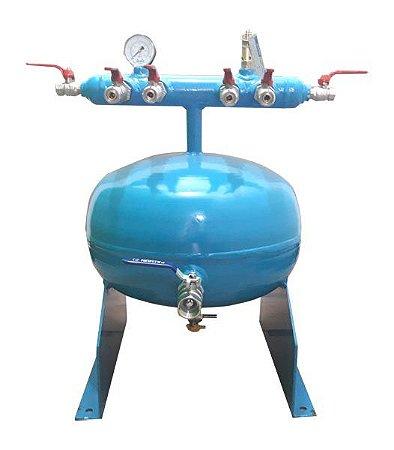 """Distribuidor de Ar Comprimido Compacto para Pressão até 12,3kg com 1 Entrada de 1"""" e 6 Saídas"""