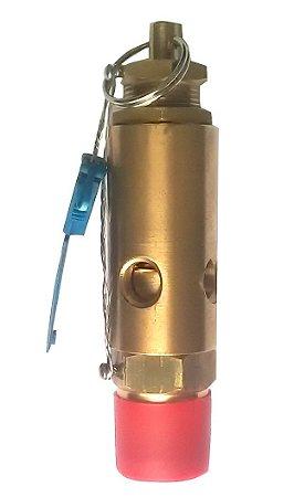 """Válvula de Segurança 3/8"""" NPT Aferida e Certificada Pressão de Abertura 5,5 bar"""