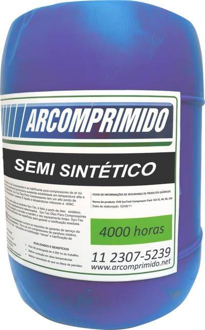 Óleo Semi Sintético para Compressor Rotativo de Parafuso Balde 20 Litros