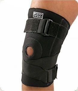 Joelheira Articulada com Cinta Cruzada Foot Hand  Neoprene 701