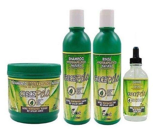 Boé Crece Pelo Kit Shampoo Condic + Gotero + Mascara 454g