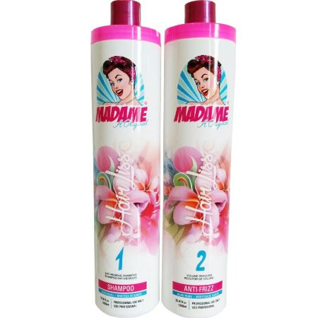 Escova Progressiva Madame Hair Kit 2x1L (+Brinde)