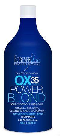 Forever Liss Power Blond Agua Oxigenada Matizadora OX 35 - 900ml