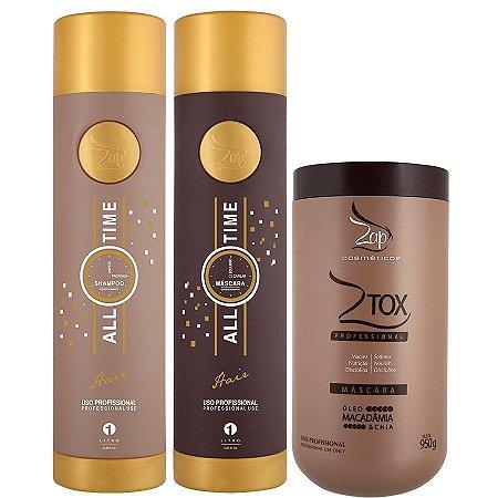 Zap All Time Kit Escova Progressiva + 1 BBtox Ztox Zap 950g  Original
