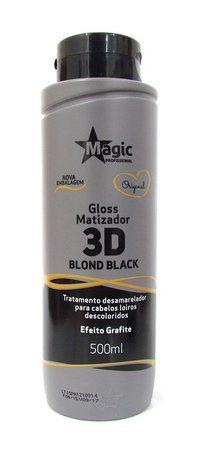 Magic Color Matizador 3D Blond Black - Efeito Grafite