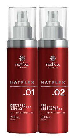 Nativa Plex SOS Profissional Reconstrutor Anti Emborrachamento - Kit