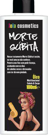 Lola Cosmetics Morte Súbita Cabelo e Corpo - Óleo Multifuncional - 100ml