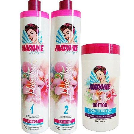 Kit escova Progressiva Madame Hair e BBtox Matizador+ Brinde