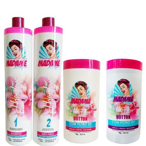 KIt Escova Progressiva Madame Hair Kit + B.tox Capilar (4 Produtos)