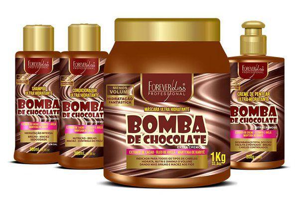Forever Liss Kit Bomba de Chocolate c/ Mascara 1kg (4 Produto)