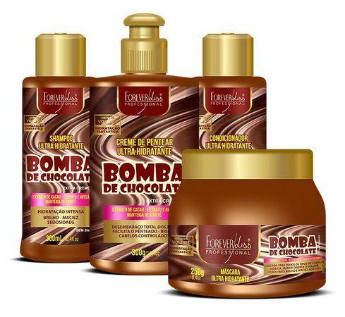 Kit Bomba de Chocolate Forever Liss (4 Produto)