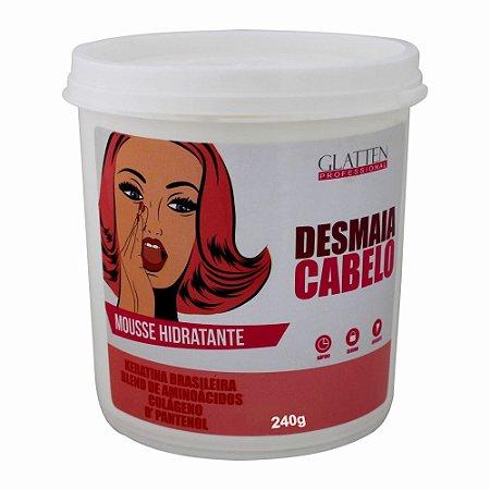 Desmaia Cabelo Mousse Hidratante Glatten 250g