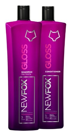 New Fox Gloss Escova Progressiva  Kit 2 x 1Litro (100% Original)