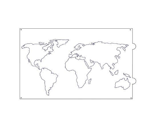 Stencil para bolo- Mapa Mundi