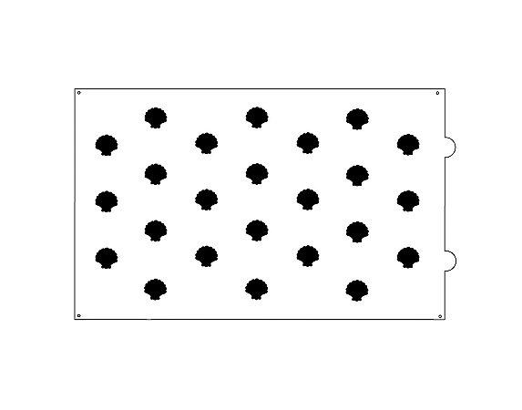 Stencil para bolo- Scallop