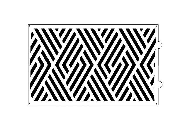 Stencil para bolo- Losango lines