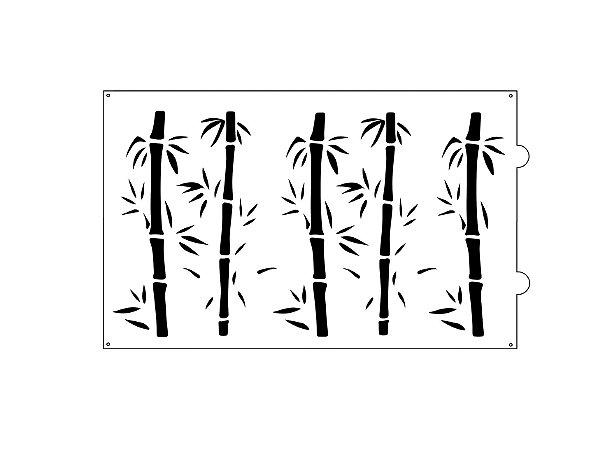 Stencil para bolo- Bamboo