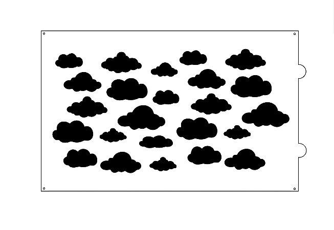 Stencil para bolo- Nuvens