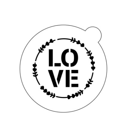 Stencil topo de bolo- Love Guirlanda