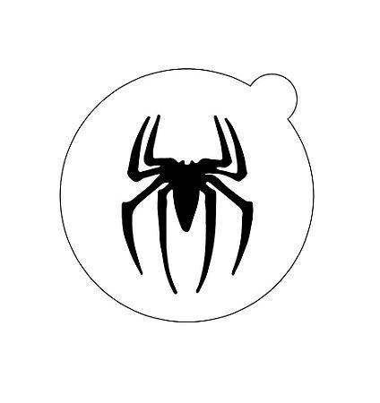 Stencil topo de bolo- Homem aranha
