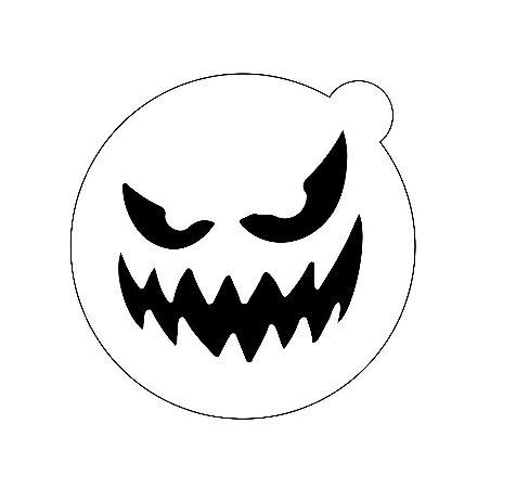 Stencil topo de bolo- Halloween Scary face