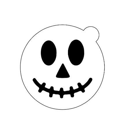 Stencil topo de bolo- Halloween Happy face