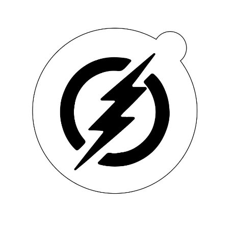 Stencil topo de bolo- Flash