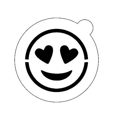 Stencil topo de bolo- Emoji apaixonado