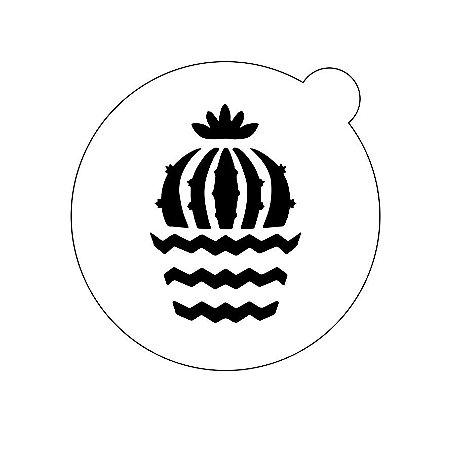 Stencil topo de bolo- Chevron cacto