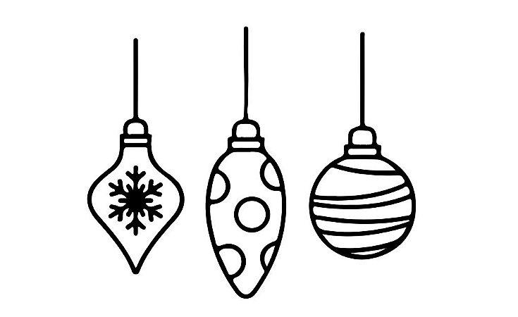 Marcador de biscoito - Bolas de Natal