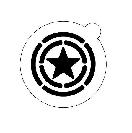Stencil topo de bolo- Capitão américa