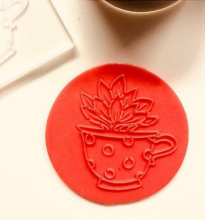 Marcador de biscoito - Suculenta na xícara