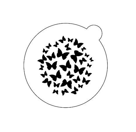 Stencil topo de bolo-Borboletas