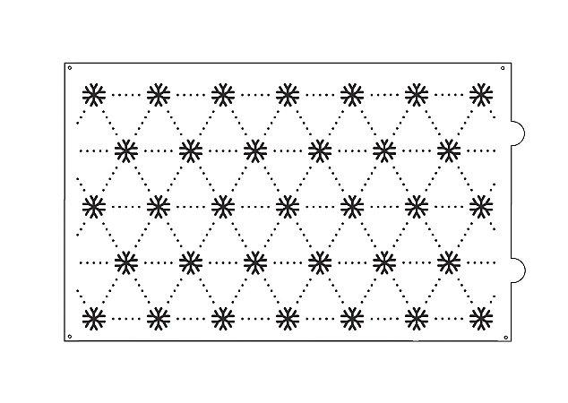 Stencil para bolo- Flocos de neve