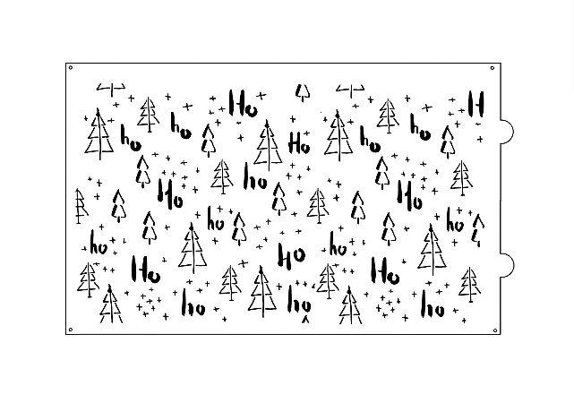 Stencil para bolo- Natal Ho-Ho-Ho