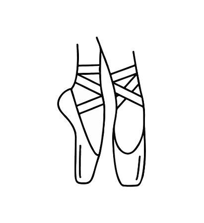 Marcador de biscoito - Sapatilhas de balé