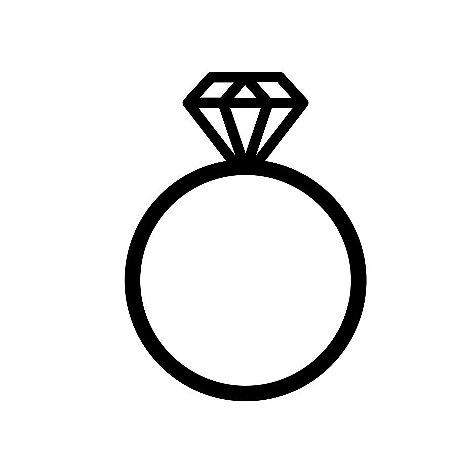 Marcador de biscoito - Anel de noivado