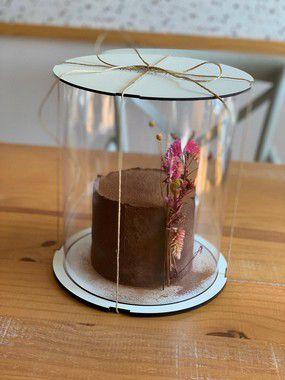 Caixa para bolo 11,5cm - com cake board embutido.