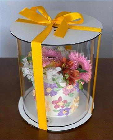 Caixa para bolo 9,5cm - com cake board embutido.