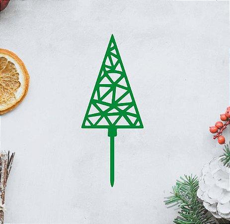 Topo - Arvore de Natal Geométrica 2- Acrílico - Várias cores