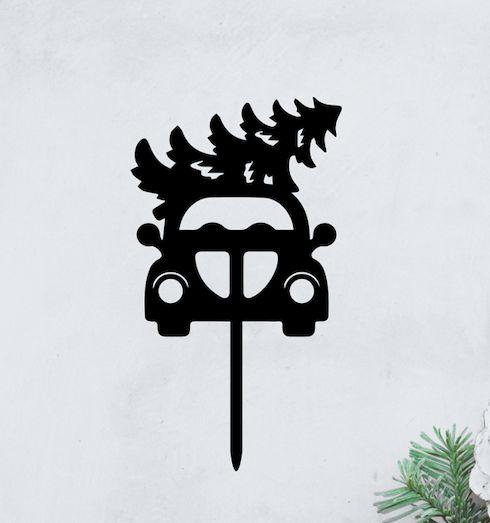 Topo -Fusquinha de Natal - Acrílico - Várias cores